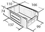 Пластиковый ящик 05.498